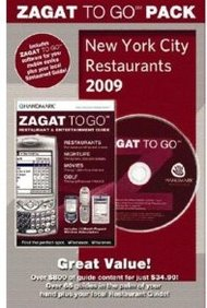 Zagat To Go Pack New York City Restaurants 2009