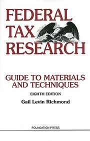 Federal Tax Research, 8th (University Textbook Series)