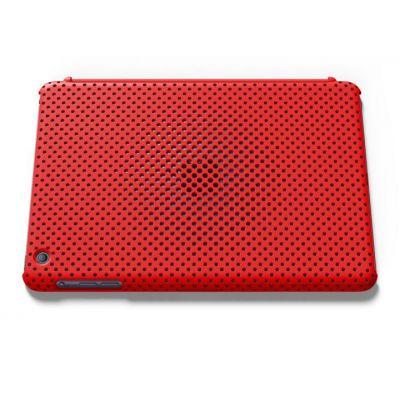 IRUAL Mesh Shell Case Red for iPad mini