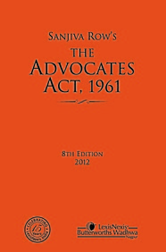 the advocate's act of 1961 In india, the law relating to legal profession is governed by the advocates act,  a person enrolled as an advocate under the advocates act, 1961, is entitled to.