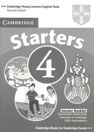 Cambridge Young Learners English Tests Starters 4 Answer Booklet: Examination Papers From The University Of Cambridge Esol Exami