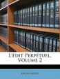 L'edit Perpetuel, Volume 2 (Greek Edition)